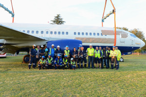 The team that moved the Boeing